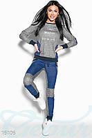 Размер L! Женский спортивный костюм Variety 16106, костюм для занятий спортом Gepur