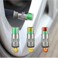 Колпачки измеряющие давление в шинах  4шт индикаторы
