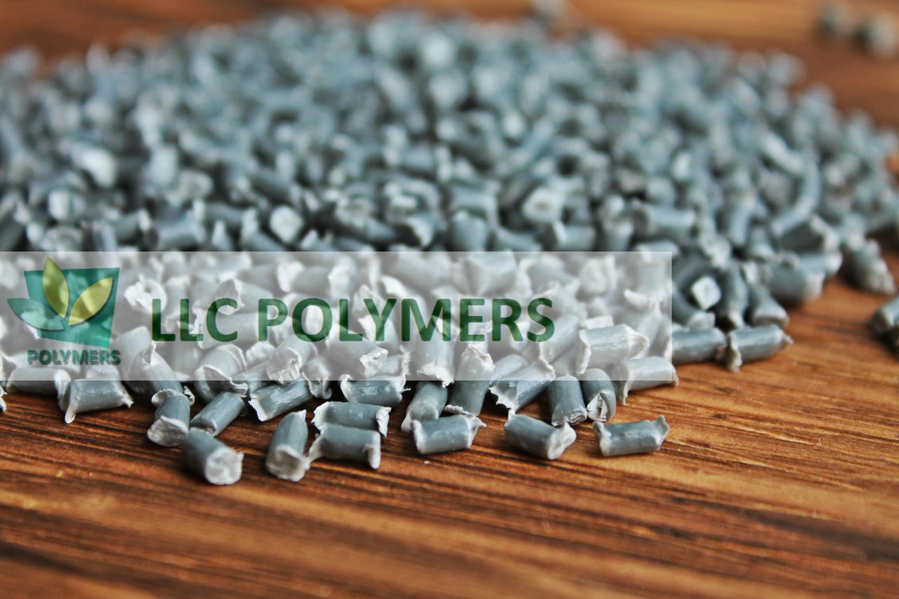 Вторичные гранулы полипропилена (ПП) серые