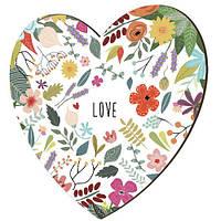 """Панно-сердце """"Love"""", 18 см (7 фото)"""