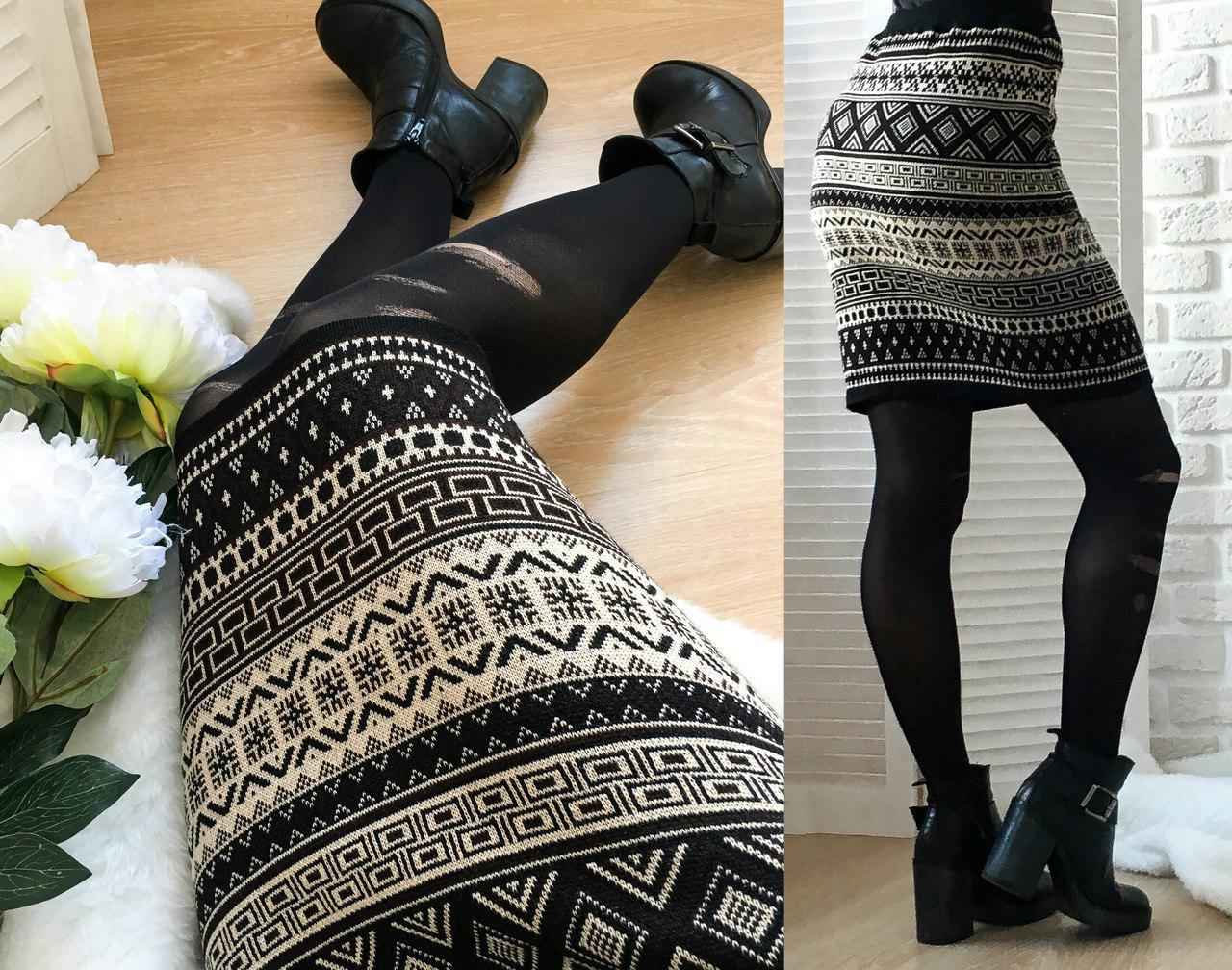 Женская шерстяная теплая юбка