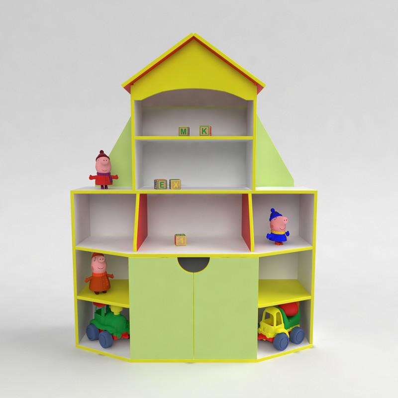 Стенка для игрушек Книжный дом - детская мебель от производителя
