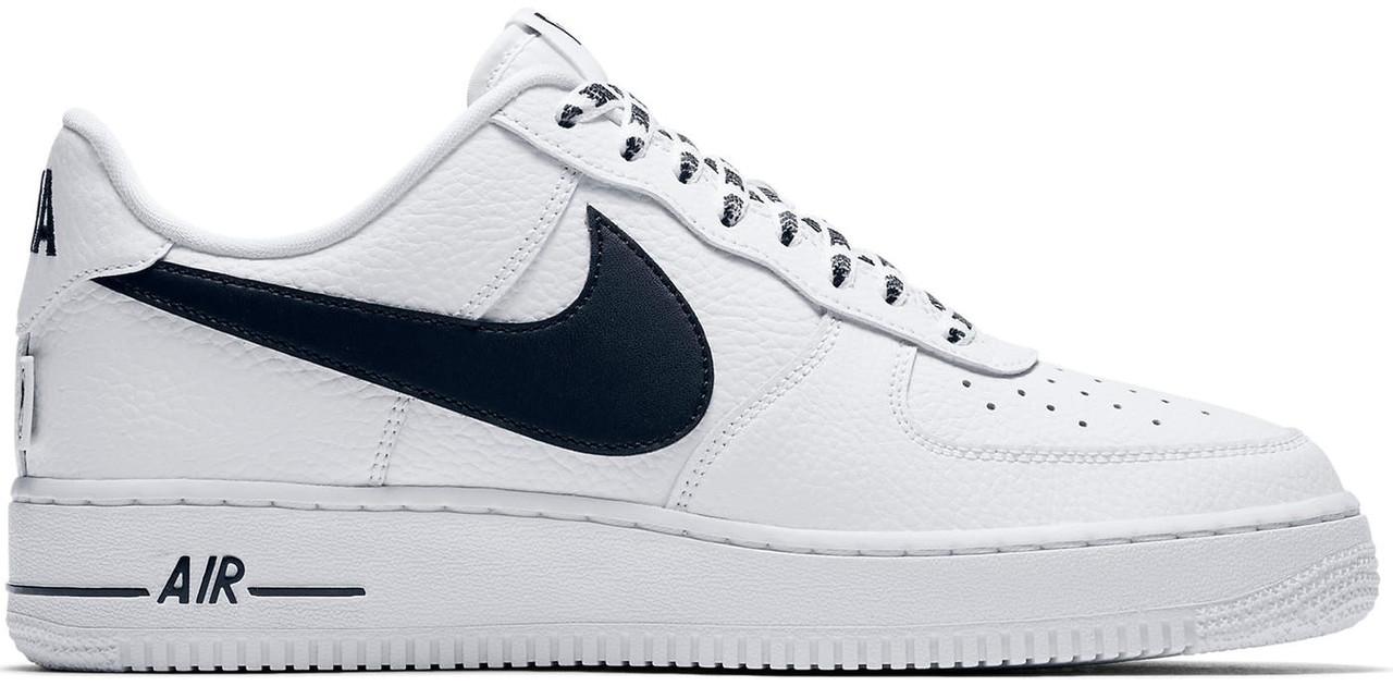 Кроссовки Nike Air Force 1 Low NBA White Black - City-Sport - интернет 5fb98c256db