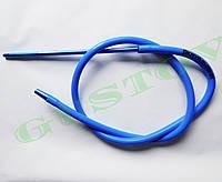 Силиконовый шланг с металическим мундштуком Kaya (Кая) - Aluslim XL SOLID Синий