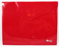 Папка-конверт A5  непрозрачная  на кнопке