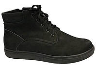 Ботинки 64BLACKNUBUK 37 23 см Черный