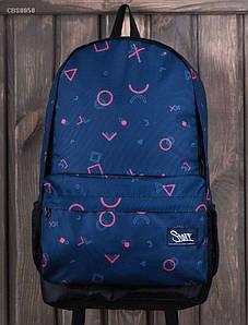 Молодежный темно-синий рюкзак Staff print 23 L CBS0058