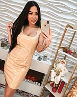 Модное и стильное платье лакированное