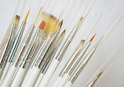Кисточки для наращивания ногтей и дизайна