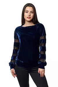 Кофта Жасмина 0304_4 Тёмно-синяя