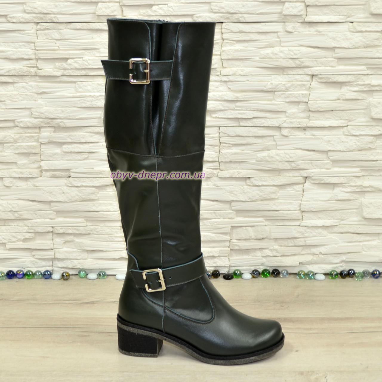 0438893a5647 Сапоги женские кожаные зеленого цвета зимние на меху  продажа, цена ...