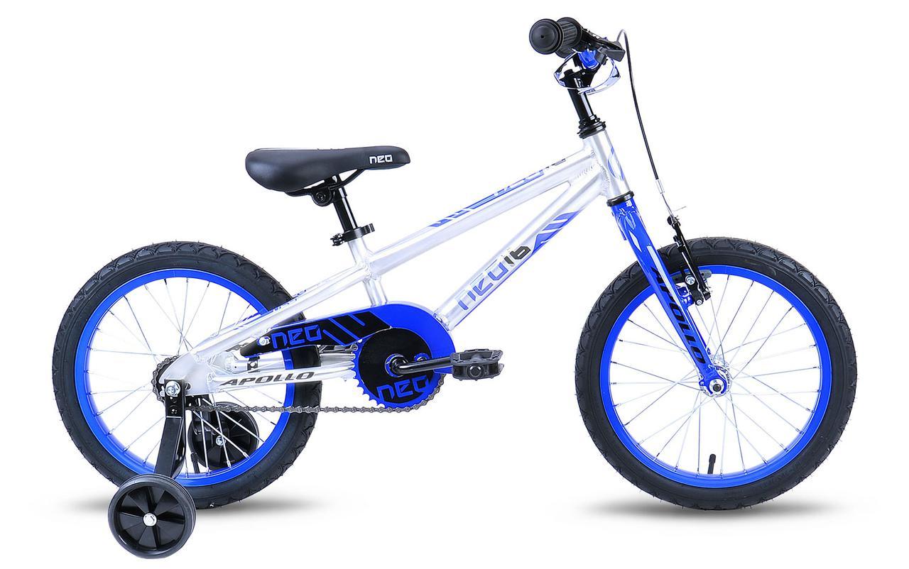 """Детский велосипед Apollo Neo Boys 16"""" сине-белый"""