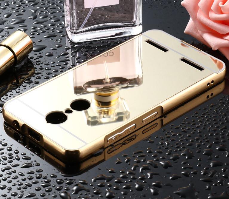 Чехол для Lenovo K6 (k33a48) зеркальный золотистый