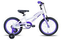 "Детский велосипед Apollo Neo Girls 16"" фиолетово-белый"