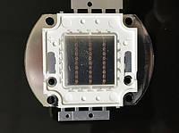 Светодиод матричный PREMIUM СОВ для прожектора SL-30 30W красный (45Х45 mil) Код.59168
