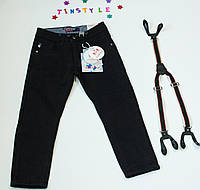 Утепленные джинсы   для мальчика на рост 116-122 см, фото 1