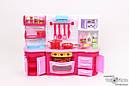 Игровой набор кухня №1 звук, свет, духовка, варочная поверхность, посуда, продукты , фото 3