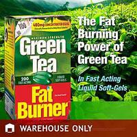 Витаминный комплекс сжигатель жира из экстракта зеленого чая Green Tea Fat Burner Applied Nutritio, 200 капсул