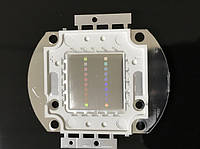 Светодиод матричный PREMIUM СОВ для прожектора SL-20 20W синий (45Х45 mil) Код.59171