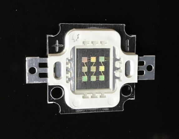 Светодиод матричный PREMIUM СОВ для прожектора SL-10 10W 300mA зеленый (45Х45 mil) Код.59173