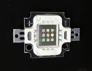 Светодиод матричный PREMIUM СОВ для прожектора SL-10 10W 300mA зеленый (45Х45 mil) Код.59173, фото 2
