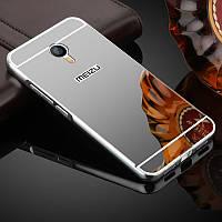 Чехол для Meizu M3 Note зеркальный серебристый, бампер, накладка, чохол, фото 1