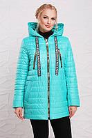 Женская демисезонная куртка больших размеров 48208 мятная