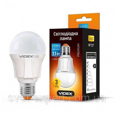 LED лампа VIDEX A60 11W E27 4100K 220V Premium