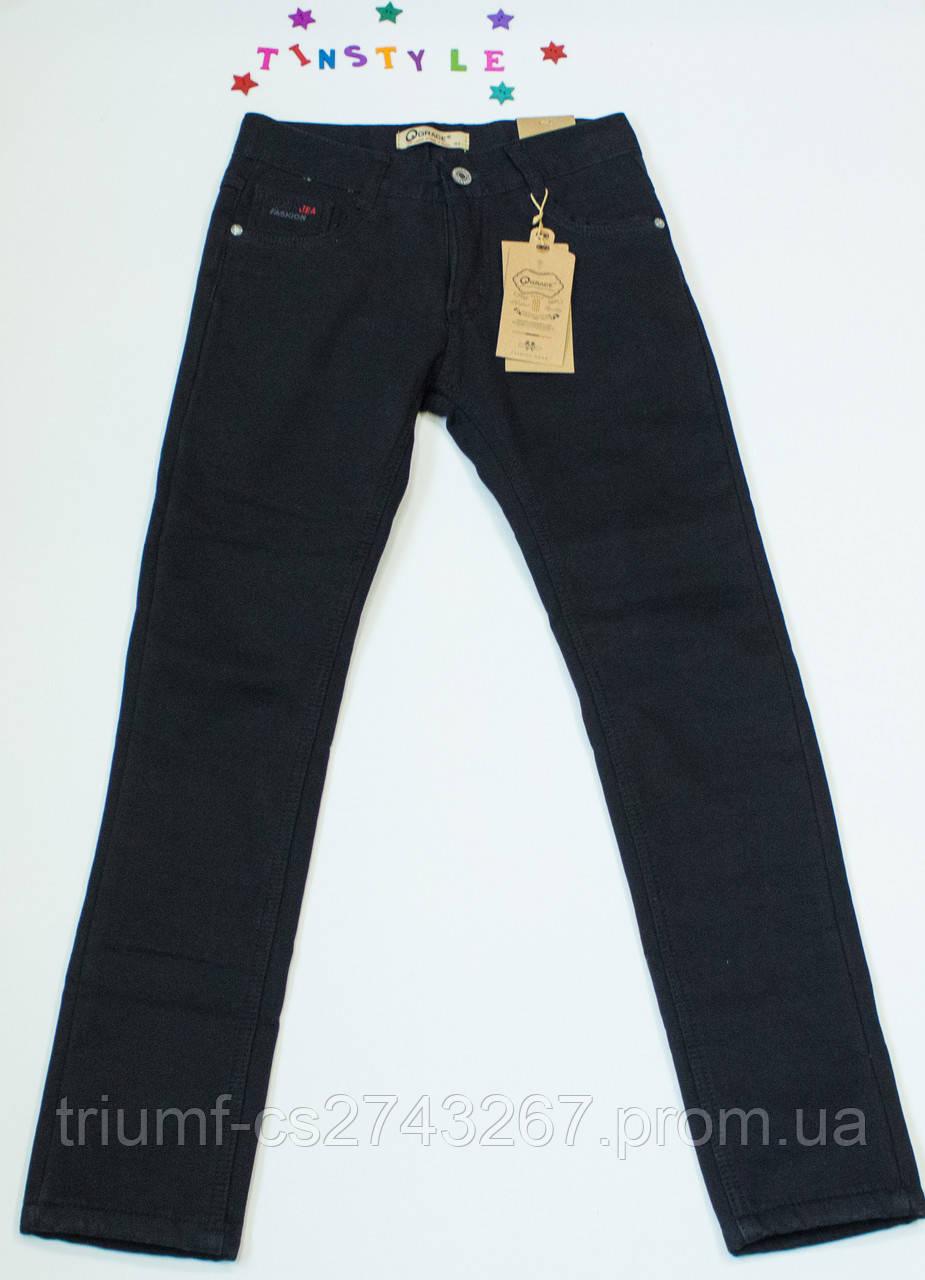 ec3257a2493 Утепленные чёрные джинсы для мальчика на рост 152 - 158 см - Интернет  -магазин