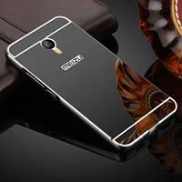 Чехол для Meizu M3 Note зеркальный черный, бампер, накладка, чохол, фото 1