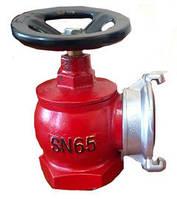 Кран (вентиль) угловой пожарный чугунный Ду-65