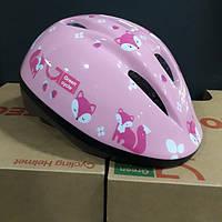 Велошолом дитячий Foxy 50-54см рожевий HEL-52-03 Green Cycle