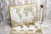 Скретч карта мира My Map Antique с увеличенными картами Европы и Украины на английском языке подробная), фото 1