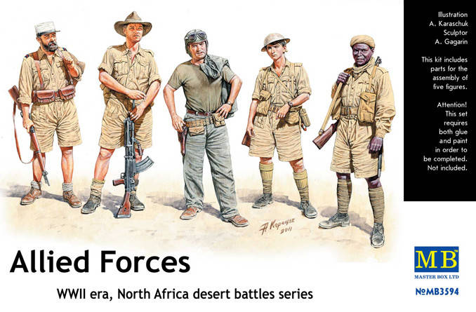 Allied Forces, WWII era, North Africa, desert battles series. 1/35 MASTER BOX 3594, фото 2
