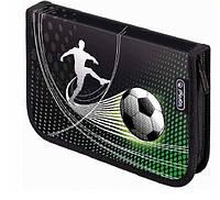 Пенал с наполнением Herlitz Smart Soccer на 31 пр. для мальчика