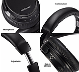 Оригинал беспроводные Bluetooth наушники Ausdom M06 Black / Полноразмерные/ Накладные, фото 7