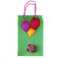 """Пакет подарочный """"Воздушные шары"""" ламин. 160*260*70мм 1421"""