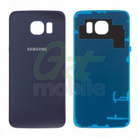 Задняя крышка Samsung G925F Galaxy S6 Edge, синяя, Black Sapphire, ори