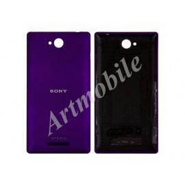 Задняя крышка Sony C2305 Xperia C S39h, фиолетовая, оригинал (Китай)