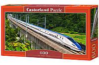 Пазлы '' Поезд '' Castorland 600 элементов