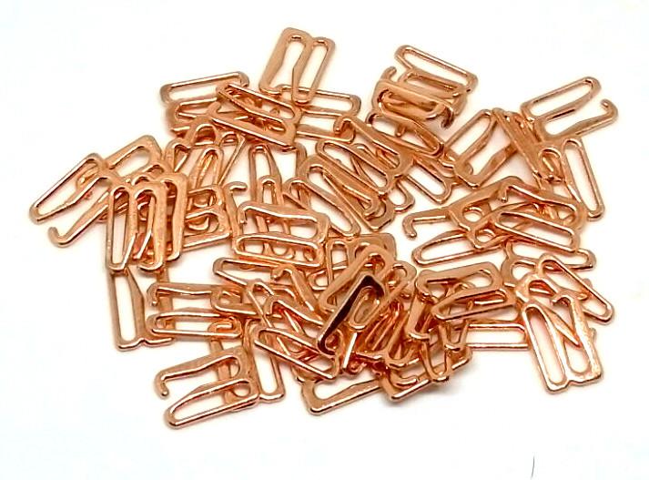 Крючек 12 мм  металл светлое золото