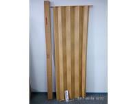 Двери-ширмы гармошка раздвижные межкомнатные пластиковые глухие 820х2030 мм 269 Дуб светлый (Глянц.)