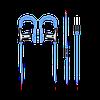 Наушники с микрофоном Promate Glitzy Blue