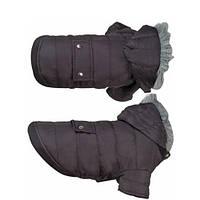 Одежда для собак куртка с капюшоном, черный POLAR BLACK