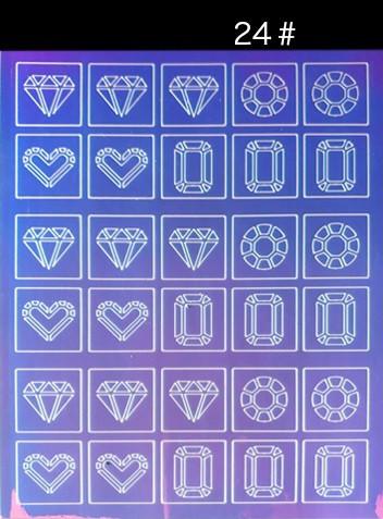 """Трафарет - наклейка с эффектом """"Битое стекло""""  #24"""