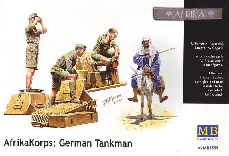 Немецкий африканский корпус, танковый экипаж и местный житель. 1/35 MB3559