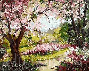 Картина за номерами ArtStory Весняний сад 40 х 50 см (арт. AS0027)