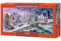 Пазлы '' Новогодний праздник '' Castorland 600 элементов