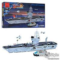 Конструктор Brick 113 Военный корабль АВИАНОСЕЦ 990 деталей