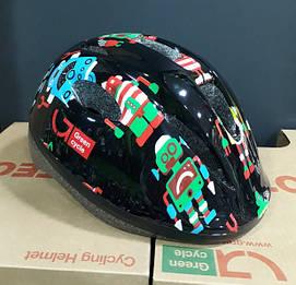 Велошолом дитячий Robots S/M 50-54 см чорний HEL-00-93 Green Cycle